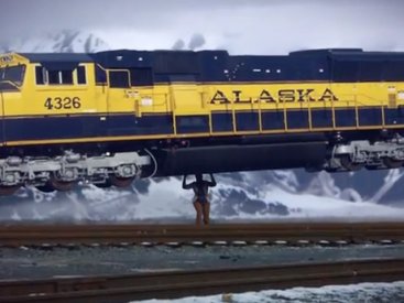 Lifting Alaska Railroad Train